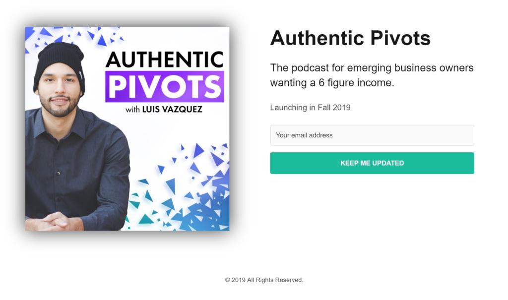 Authentic Pivots Landing Page